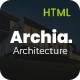 Archia - Bootstrap Architecture and Interior Design RTL Ready Template